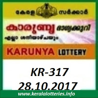 KARUNYA (KR-317) LOTTERY RESULT  ON 28-10-2017