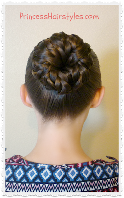 Pinwheel bun shortcut hair tutorial. Quick and easy!
