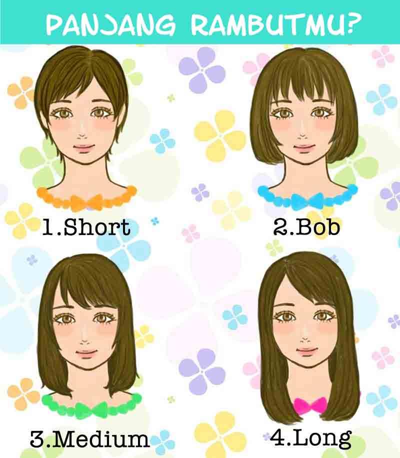 panjang rambut wanita