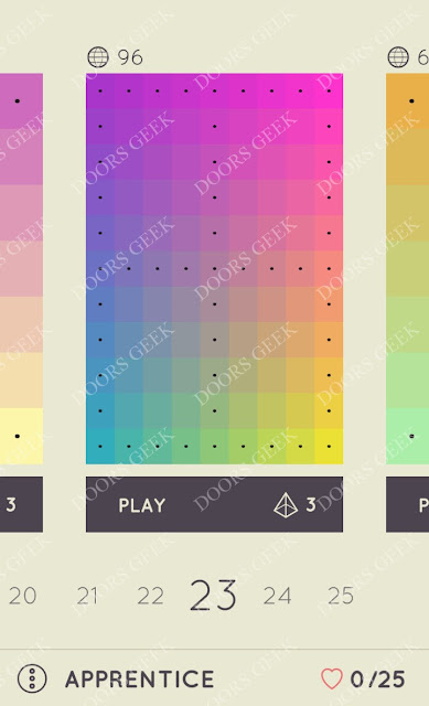 I Love Hue Apprentice Level 23 Solution, Cheats, Walkthrough