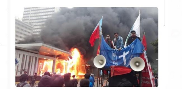 Bantah Cipayung Plus Bakar Halte Transjakarta, GMKI: Silakan Polisi Cek CCTV
