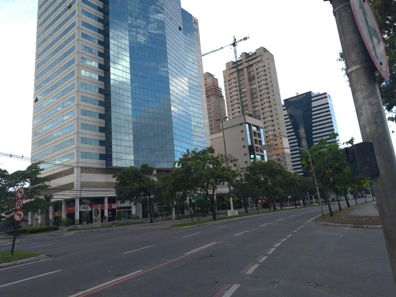Vista de uma rua da cidade de Vitória, Espírito Santo