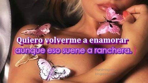 Mariposas, Quiero sentirme deseada y amada, Se Busca, Enamorate, Esperanza, Desengaño, Olvido, Envidia, Paz, Familia, Dolor en el alma, Pasado, Felicidad,