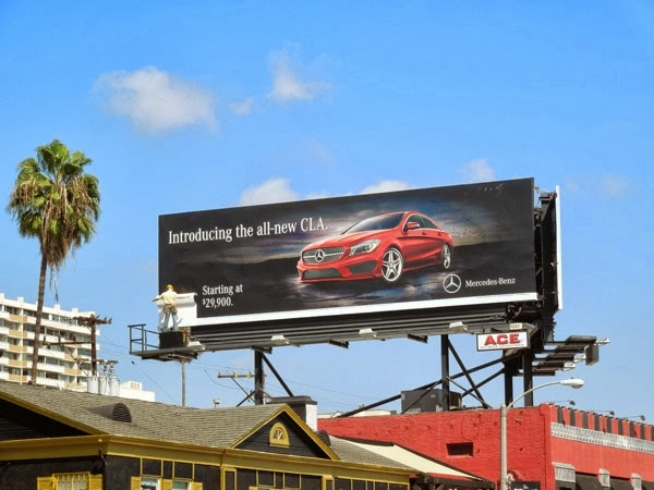 Mercedes-Benz All new CLA mannequin billboard installation