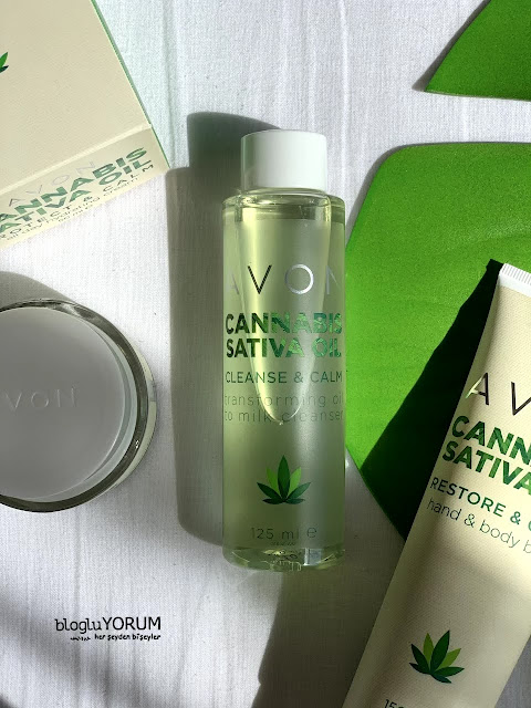Avon Cannabis Sativa Oil kenevir yağı serisi Cleanse & Calm Temizleyici Yağ incelemesi 1