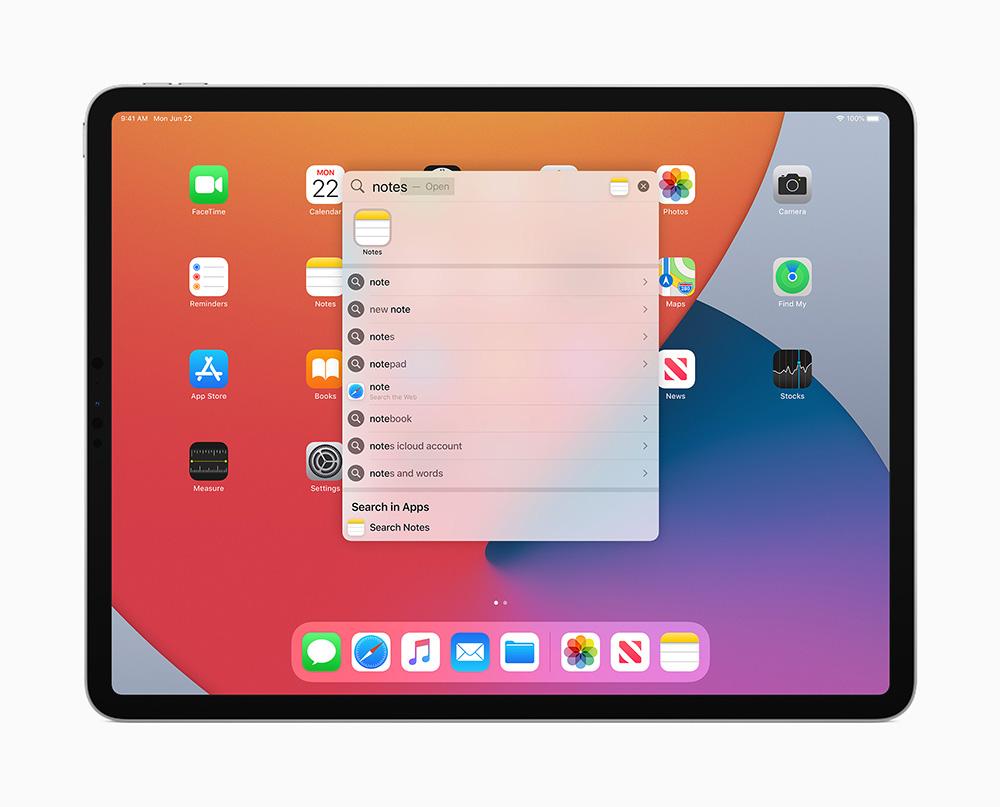 iPadOS 14 加入專為 iPad 設計的新功能:體驗更加獨特