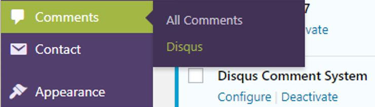 Disqus comment system on wordpress