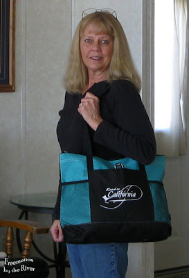 Me with the Road to California tote bag