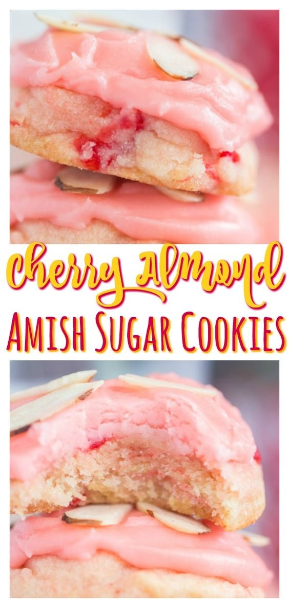 Cherry Almond Amish Sugar Cookies
