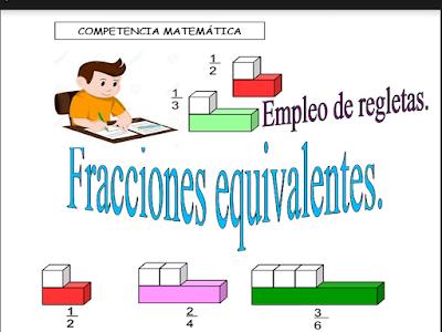 fracciones, fracciones equivalentes,material didáctico,docentes,alumnos