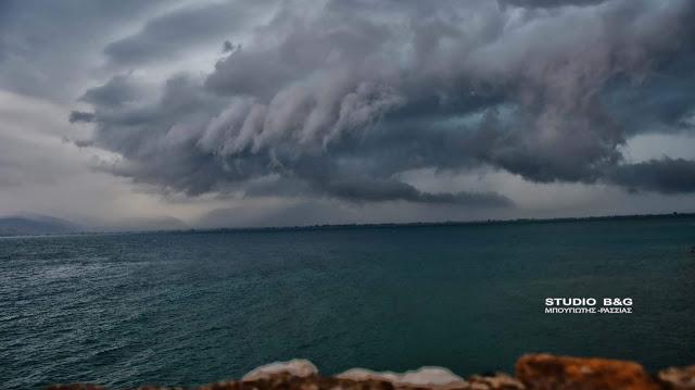 Με καταιγίδες και θυελλώδεις βοριάδες ο καιρός σήμερα και στην Αργολίδα