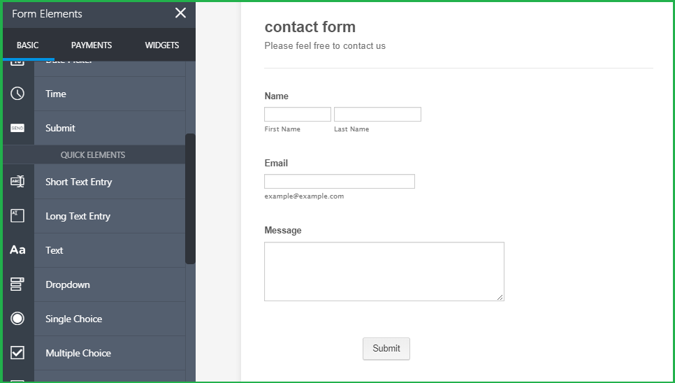 add fields on your contact form