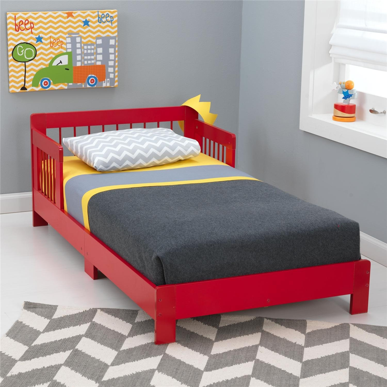 A Red Toddler Bed Will Extend Babys Tractor Crib Bedding
