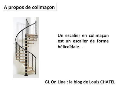 Image mettant cote à cote une image de l'escalier et une définition