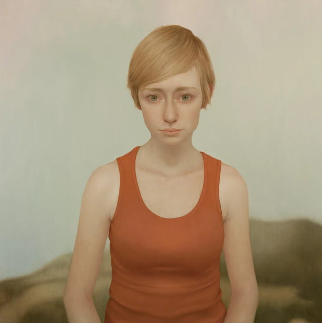 Lu Cong arte inspirador, rostros tristes, miradas, deep emotional woman, tristeza soledad en pinturas,