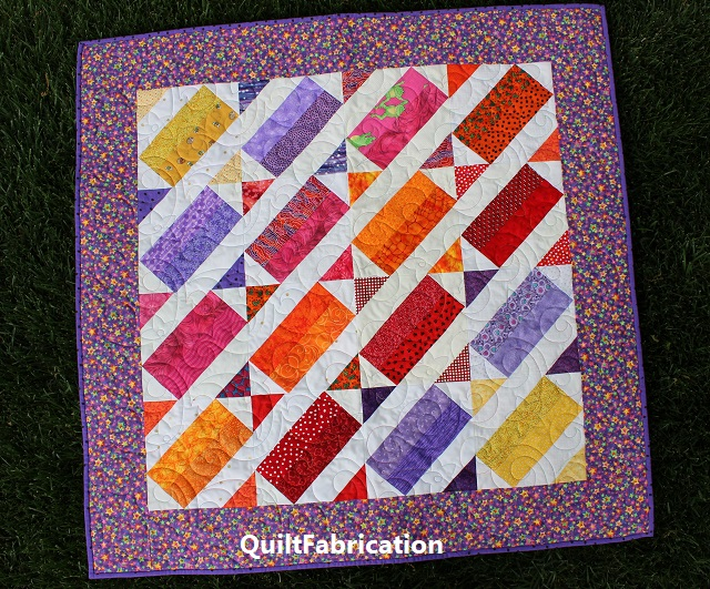 BABY QUILT-BRICK YARD BLOCK-DIAGONAL SETTING