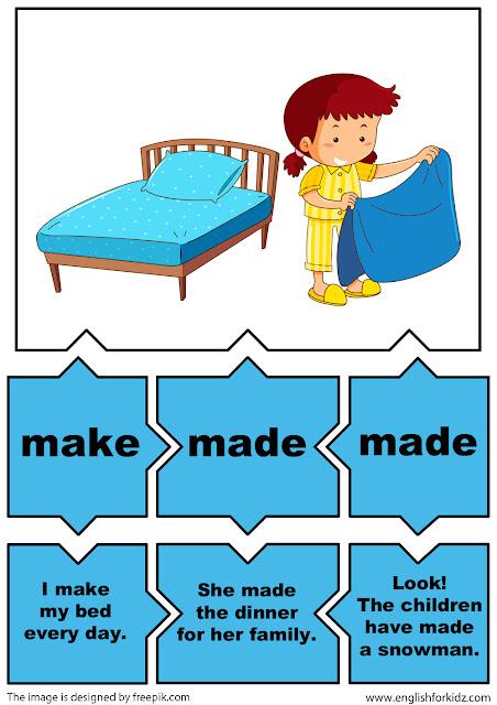 irregular verbs puzzles verb make