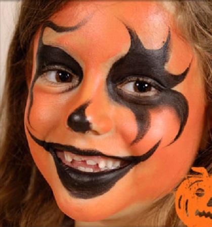 Cara Pintada Para Halloween - Cara-pintada-para-halloween