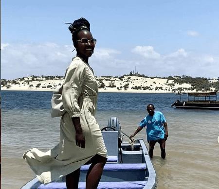 US-based Kenyan actress Lupita Nyong'o photo in Lamu