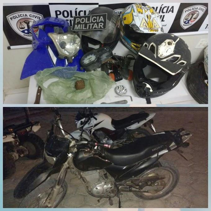 Destacamento Policial Militar de Tutoia estoura desmanche de motos