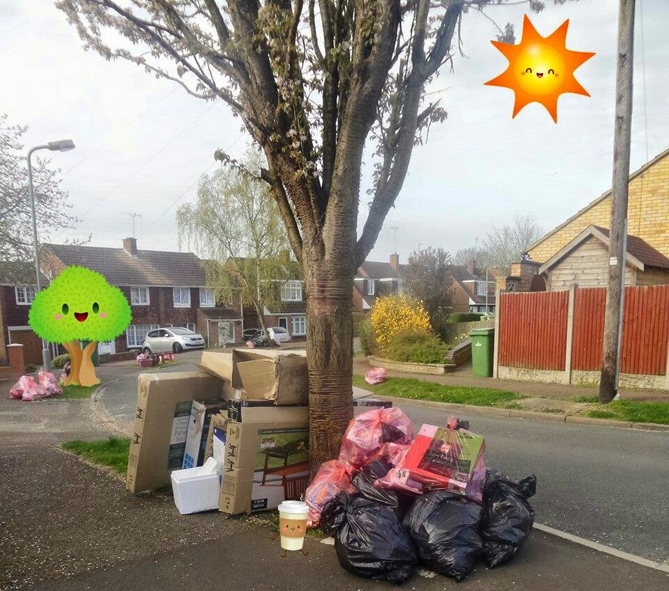 Rubbish waiting for the bin men