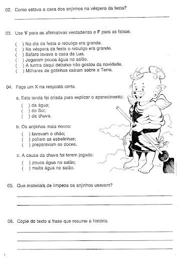 Portugues 4 Ano Exercicios Atividades Para Imprimir Iv Pintando