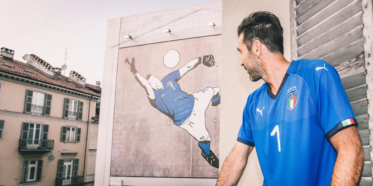 36c7e1a04 Italy 2018 Home Kit Released - Footy Headlines
