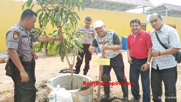 Kepala Dinas Pertanian Bartim Apresiasi Kegiatan Penghijauaan Yang Dilakukan Polres