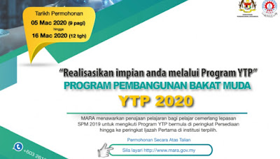 Permohonan Pinjaman Pelajaran MARA (YTP) 2020 Online