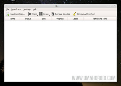 Tampilan kGet di Xubuntu 18.04 LTS