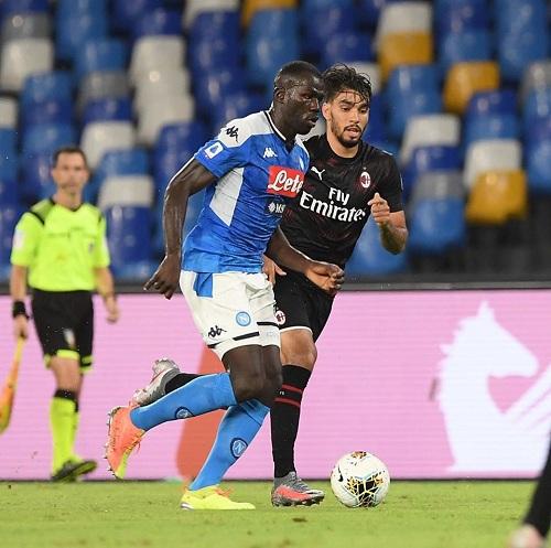 اهداف مباراة ميلان ونابولي 22 فى الدورى الايطالى 12-7-2020