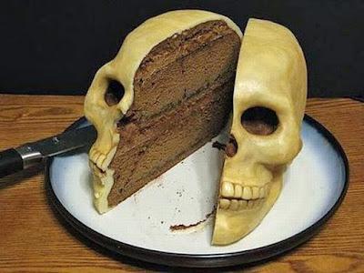 Kuchen Totenschädel lustig