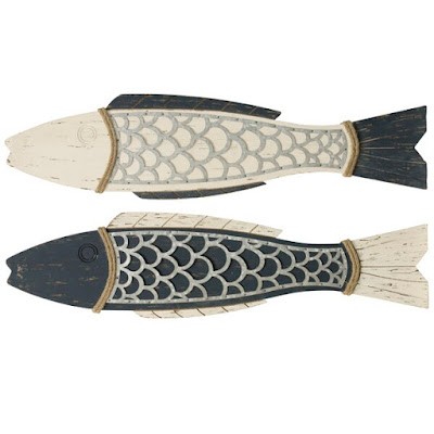 2 Piece Couple Fish Wood Wall Decor Set