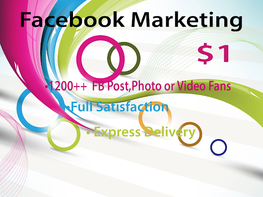 Facebook Marketing and Promotion with Guaranteed Result for $1