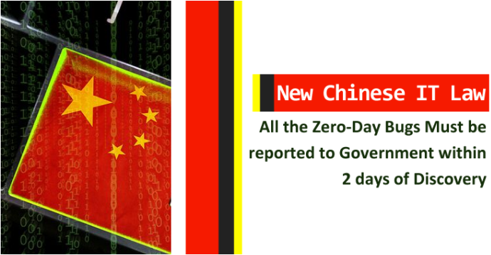 Zero-Day Bugs Must be Reported to Government Within 2 Days of Discovery – New Chinese IT Law