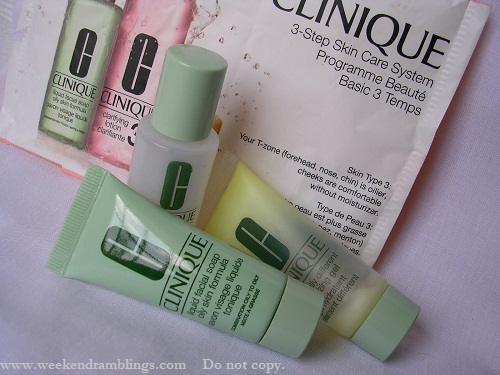 Clinique skincare 3 step program