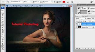 cara membuat tulisan bercahaya di photoshop