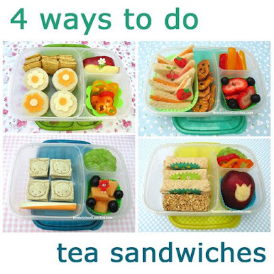 4 Tea Sandwiches For Lunch in Easylunchboxes