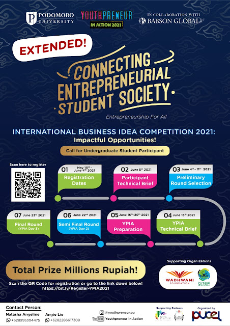 Youthpreneur in Action 2021: Connecting Entrepreneurial Student Society