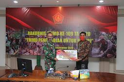 Candra Wijaya Wakili Kodam Udayana Ikuti Rakornis TMMD ke-109 Tahun 2020 Secara Virtual