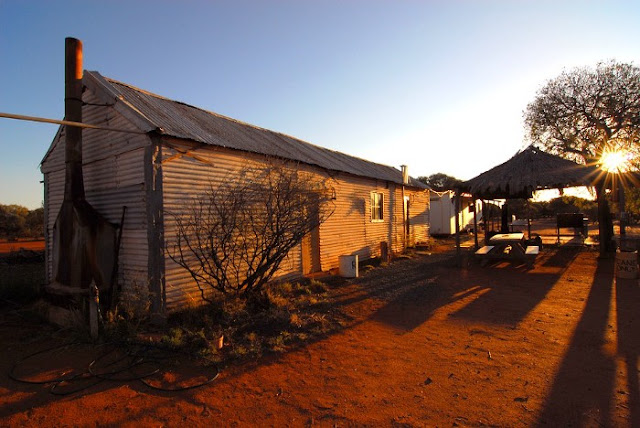 a run down home in the australian outback
