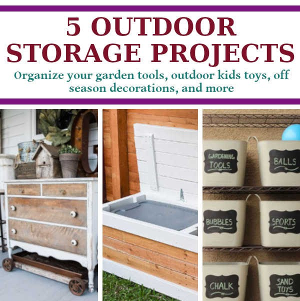 Diy Outdoor Storage Projects