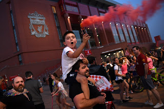 Check out Photos of Liverpool fans celebrating English Premier League title