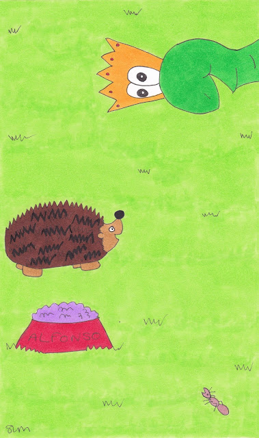 Alfonso meets Eric the hedgehog image