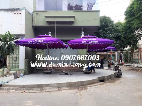 Cửa hàng bán dù che nắng cho quán cà phê tại thành phố Nha Trang