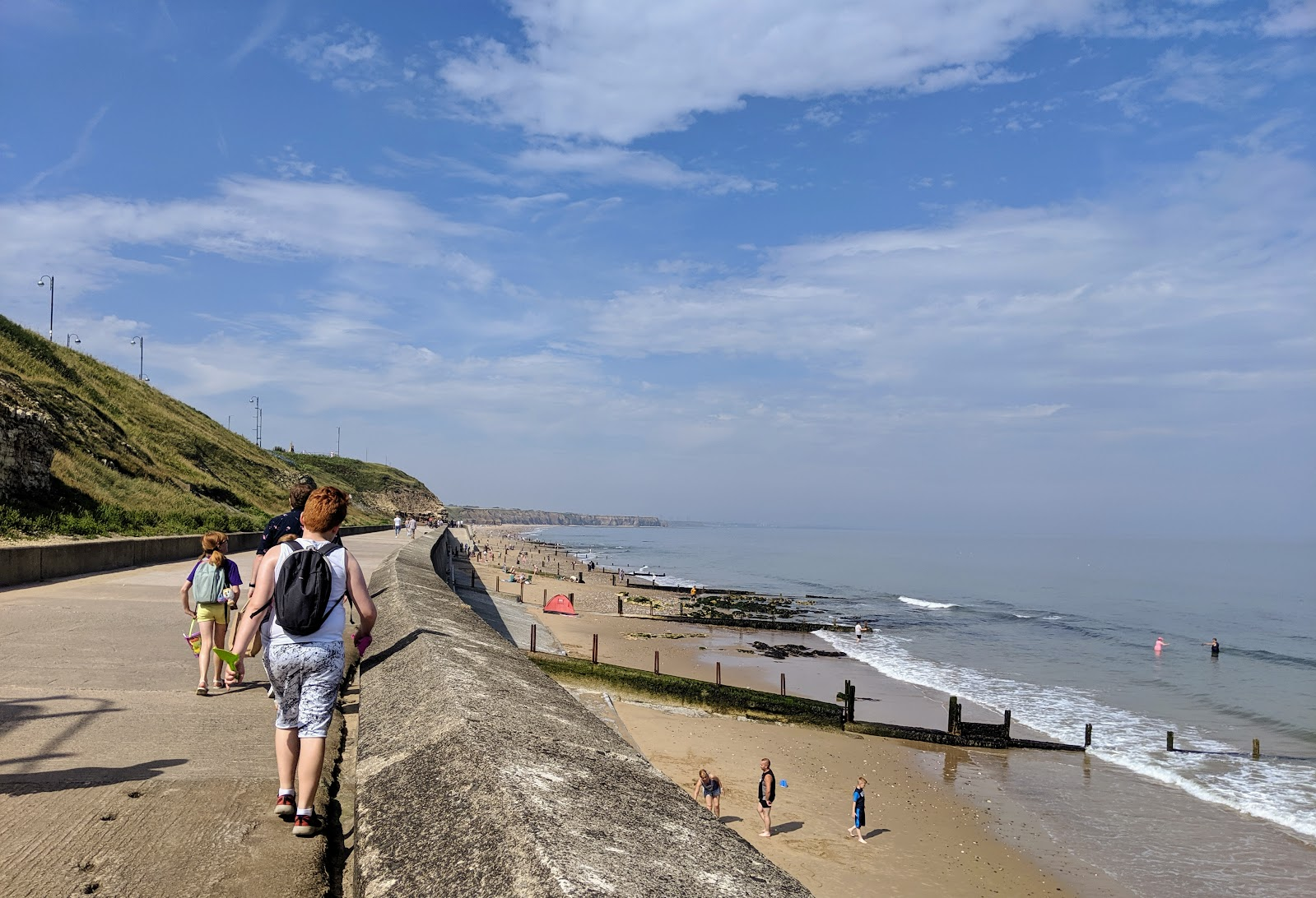 A Weekend Exploring Seaham Beach & Durham's Heritage Coast - walking along seaham prom