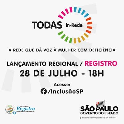 Programa TODAS in-Rede tem lançamento Regional virtual na terça, dia 28
