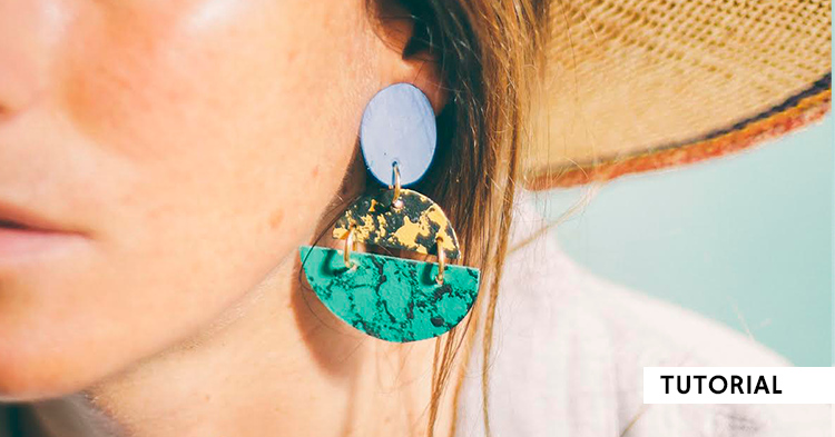 Maxi pendientes Upcycled