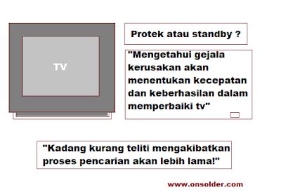 Perbedaan Kerusakan TV Protek dan Standby