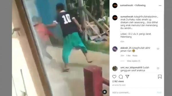Viral Video Pemuda Tendang Ibu-ibu di Palembang, Warganet Geram: Anak Durhaka!